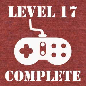 Level 17 Complete 17th Birthday - Unisex Tri-Blend T-Shirt by American Apparel