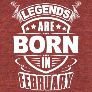 Legends are born in February - Unisex Tri-Blend T-Shirt by American Apparel