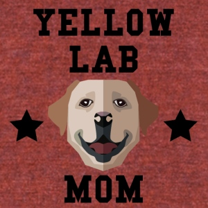 Yellow Lab Mom Dog Owner - Unisex Tri-Blend T-Shirt by American Apparel
