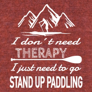 SUP Therapy - Unisex Tri-Blend T-Shirt by American Apparel