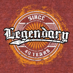 Legendary since 40 years t-shirt and hoodie - Unisex Tri-Blend T-Shirt by American Apparel