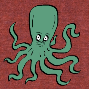Octopus Turquoise - Unisex Tri-Blend T-Shirt by American Apparel