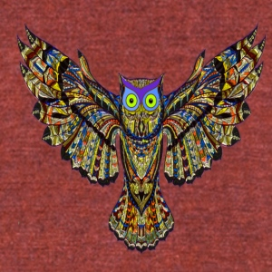 owl - Unisex Tri-Blend T-Shirt by American Apparel