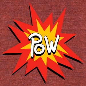 Pow - Unisex Tri-Blend T-Shirt by American Apparel