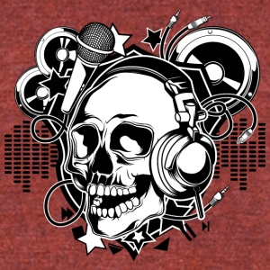 DJ_skull - Unisex Tri-Blend T-Shirt by American Apparel