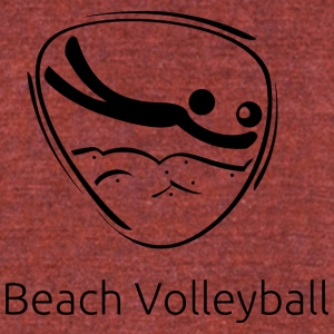 Beach_volleyball_black - Unisex Tri-Blend T-Shirt by American Apparel