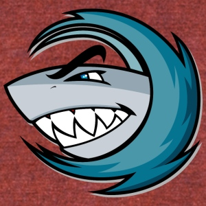 shark_in_wave - Unisex Tri-Blend T-Shirt by American Apparel