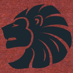 side_looking_lion_head - Unisex Tri-Blend T-Shirt by American Apparel