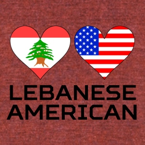 Lebanese American Hearts - Unisex Tri-Blend T-Shirt by American Apparel