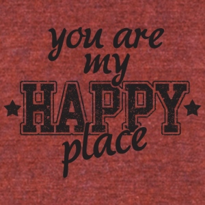 My happy place - Unisex Tri-Blend T-Shirt by American Apparel