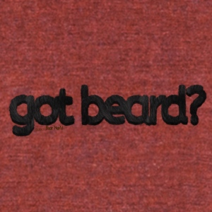 got beard?-Furry Fun-Bear Pride-Black Bear - Unisex Tri-Blend T-Shirt by American Apparel