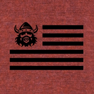 black viking sign illustration - Unisex Tri-Blend T-Shirt by American Apparel