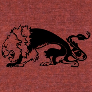 thin_scary_lion_black - Unisex Tri-Blend T-Shirt by American Apparel
