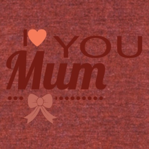 i_love_you_mom - Unisex Tri-Blend T-Shirt by American Apparel