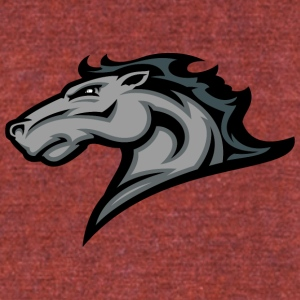 gray_horse - Unisex Tri-Blend T-Shirt by American Apparel