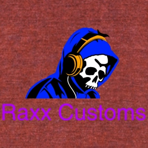 SKULL RAXX CUSTOMS logo blue - Unisex Tri-Blend T-Shirt by American Apparel