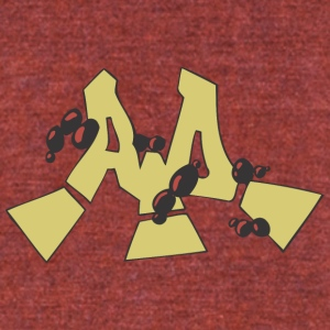 aa_graffiti - Unisex Tri-Blend T-Shirt by American Apparel