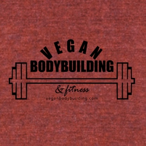 Vegan Bodybuilding & Fitness logo - Unisex Tri-Blend T-Shirt by American Apparel