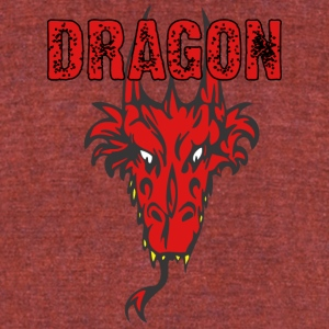 dragon_head_with_horns_color - Unisex Tri-Blend T-Shirt by American Apparel