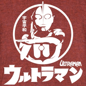 CLASSIC ULTRAMAN JAPAN SUPERHERO TOKUSATSU - Unisex Tri-Blend T-Shirt by American Apparel