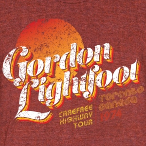 Gordon Lightfoot - Unisex Tri-Blend T-Shirt by American Apparel