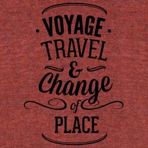 voyage_travel_ans_chnange_the_place-01 - Unisex Tri-Blend T-Shirt by American Apparel