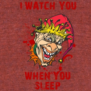 EVIL_CLOWN_7_watching - Unisex Tri-Blend T-Shirt by American Apparel