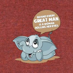 The Wise Elephant - Unisex Tri-Blend T-Shirt by American Apparel