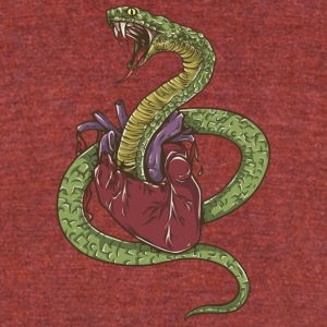 snake_exploding_heart - Unisex Tri-Blend T-Shirt by American Apparel