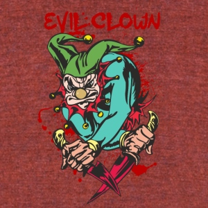 EVIL_CLOWN_3_WITH_knifes_bloody - Unisex Tri-Blend T-Shirt by American Apparel