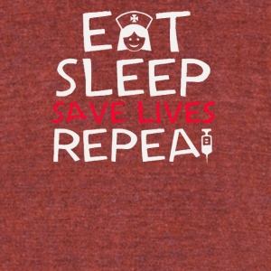 Eat sleep save lives repea - Unisex Tri-Blend T-Shirt by American Apparel
