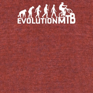 Evolution Of A Mountain Biker - Unisex Tri-Blend T-Shirt by American Apparel