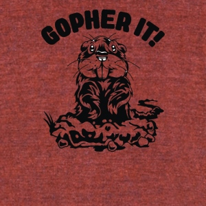 Mouse Gopher Cyber System - Unisex Tri-Blend T-Shirt by American Apparel