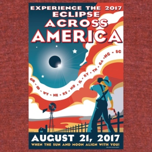 Official 2017 Eclipse Across America Gear - Unisex Tri-Blend T-Shirt by American Apparel