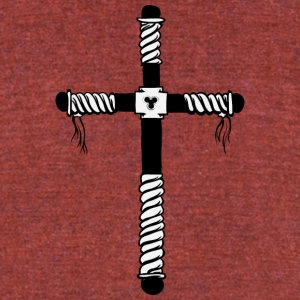 christian_cross_19 - Unisex Tri-Blend T-Shirt by American Apparel