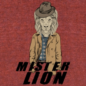 Mister_Lion - Unisex Tri-Blend T-Shirt by American Apparel