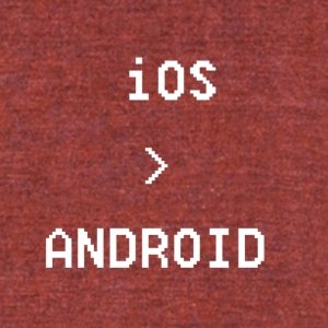 iOS is greater than Android - Unisex Tri-Blend T-Shirt by American Apparel