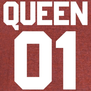 Queen 01 - Unisex Tri-Blend T-Shirt by American Apparel