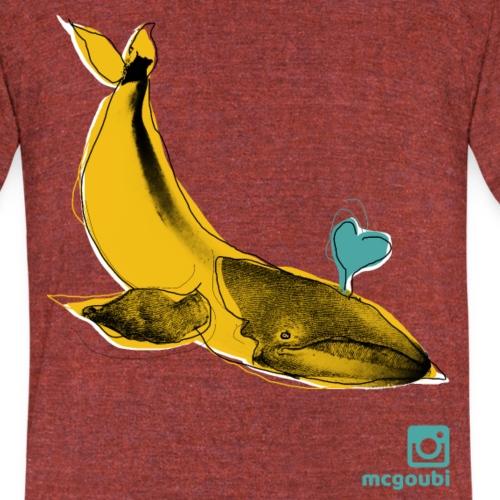 baleine (perso) - Unisex Tri-Blend T-Shirt