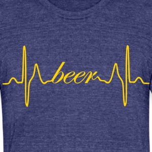 Beer ECG heartbeat - Unisex Tri-Blend T-Shirt by American Apparel