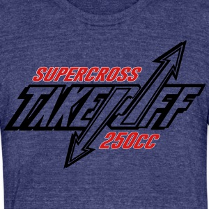 TakeOff-Supercross250cc - Unisex Tri-Blend T-Shirt by American Apparel