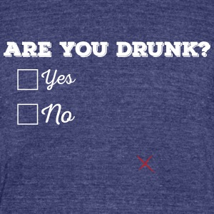 Are you drunk? - Unisex Tri-Blend T-Shirt by American Apparel