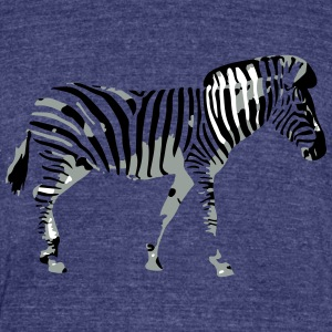 Zebra - Unisex Tri-Blend T-Shirt by American Apparel