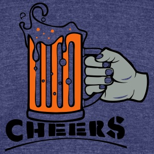 CHEERS! - Unisex Tri-Blend T-Shirt by American Apparel
