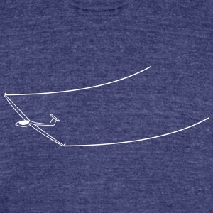 glider soaring - Unisex Tri-Blend T-Shirt by American Apparel