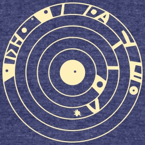crop circles 18 - Unisex Tri-Blend T-Shirt by American Apparel