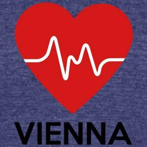 Heart Vienna - Unisex Tri-Blend T-Shirt by American Apparel