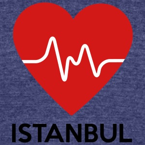 Heart Istanbul - Unisex Tri-Blend T-Shirt by American Apparel