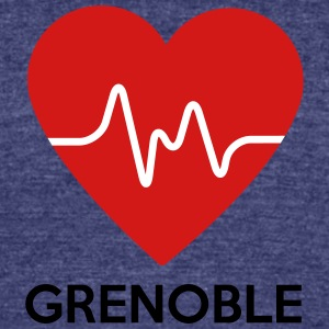 Heart Grenoble - Unisex Tri-Blend T-Shirt by American Apparel