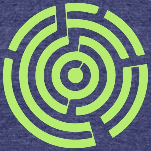 crop circles 6 - Unisex Tri-Blend T-Shirt by American Apparel